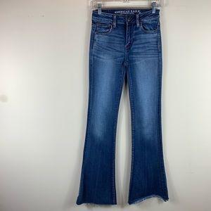 American Eagle High Rise Slim Flare Jean